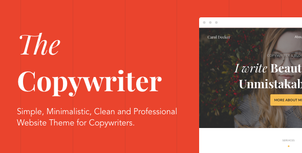 The Copywriter | Simple, Minimalistic, Clean and Professional HTML5 Theme by breezingthemes