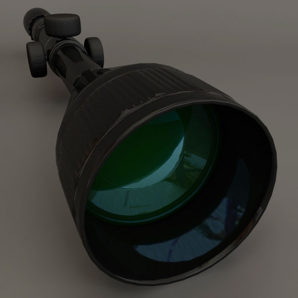 Sniper Scope - 3DOcean Item for Sale