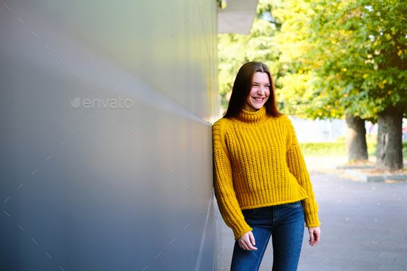 Young Redhead Woman Smiling - Stock Photo - Images