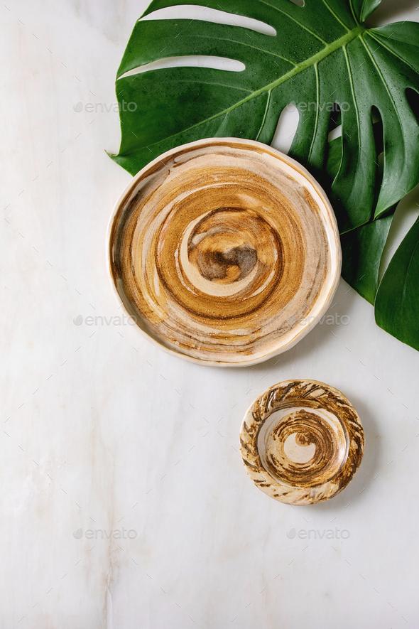 Empty ceramic dishes - Stock Photo - Images