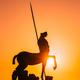Pompeii, Italy. Statue Of Centaur On Territory Of Forum On Background Sunset Sunrise Sky - PhotoDune Item for Sale