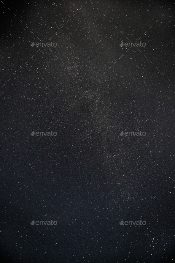 Real Night Sky Stars With Milky Way Galaxy. Natural Starry Sky Black Background - Stock Photo - Images