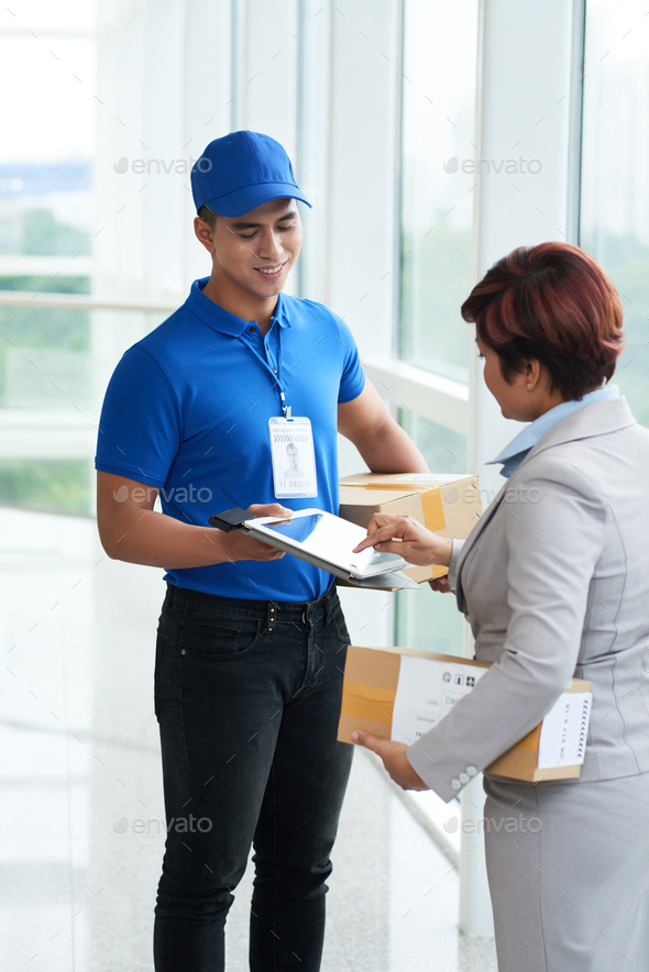 Paying for fast delivery - Stock Photo - Images