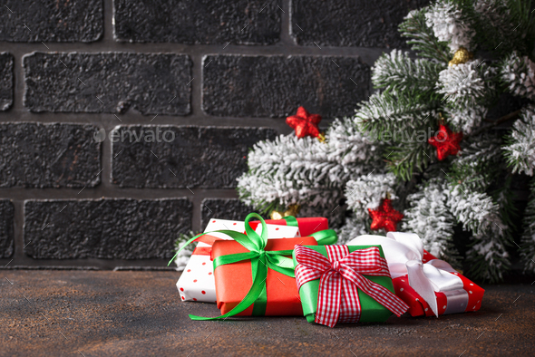 Christmas or New Year background - Stock Photo - Images