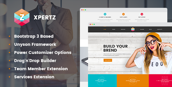 XpertZ - Corporate Multipage WordPress theme