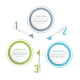 Circle Infographics with Three Elements