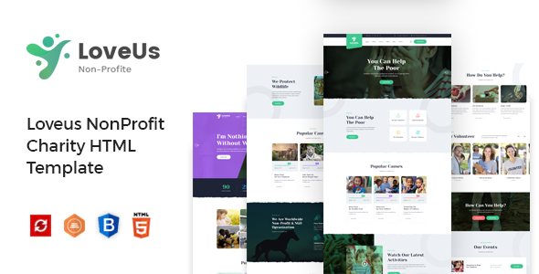 Loveus - Charity NonProfit HTML Template