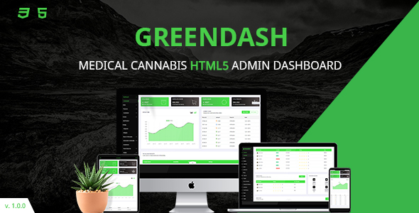 Greendash | Medical-Cannabis Dashboard HTML5 Template