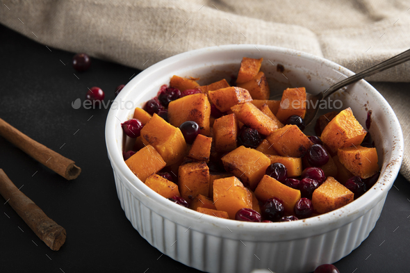 Freshly Roasted Butternut Squash - Stock Photo - Images