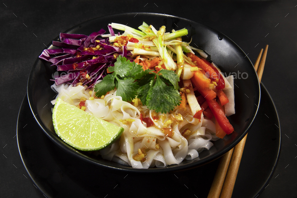 Lime Chili Noodle Salad - Stock Photo - Images