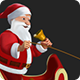 Santa Claus Riding Sleigh with Reindeer - 5 Clips - HD - VideoHive Item for Sale