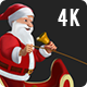 Santa Claus Riding Sleigh with Reindeer - 5 Clips - 4K - VideoHive Item for Sale