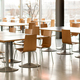 Interior of empty canteen with tables and chairs - PhotoDune Item for Sale