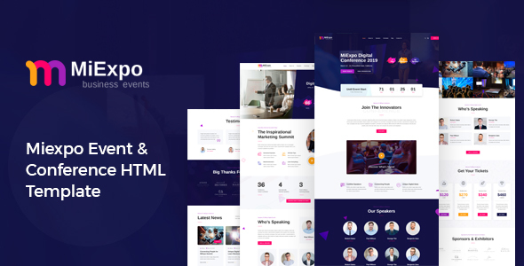 MiExpo | Event Conference HTML Template