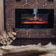 Cozy room with fireplace, fur skin and pile of woods - PhotoDune Item for Sale