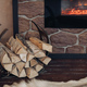 Pile of logs next to the fireplace - PhotoDune Item for Sale