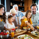 Grandparents, parents and children spending happy time in the kitchen - PhotoDune Item for Sale