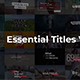 Essential Titles V.3 - VideoHive Item for Sale