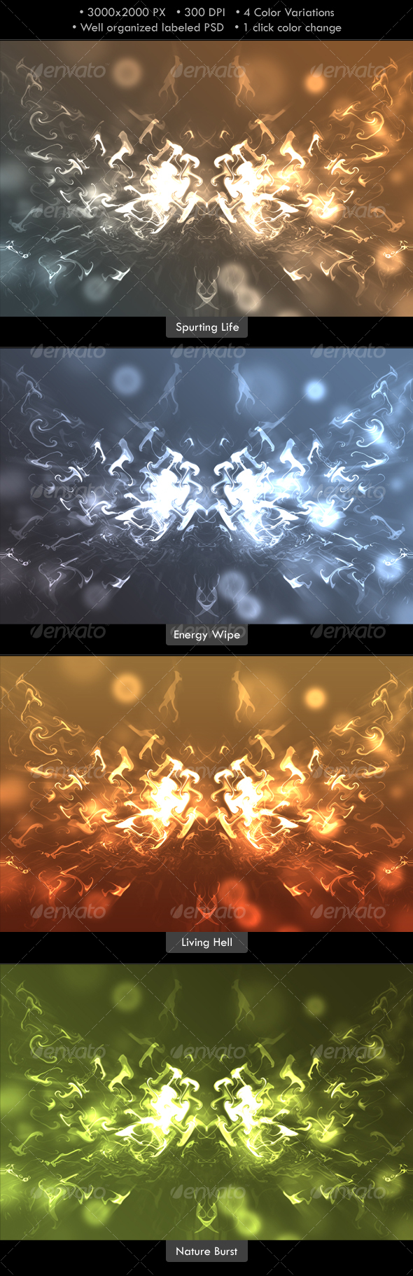 Abstract Energy Burst Background - Abstract Backgrounds