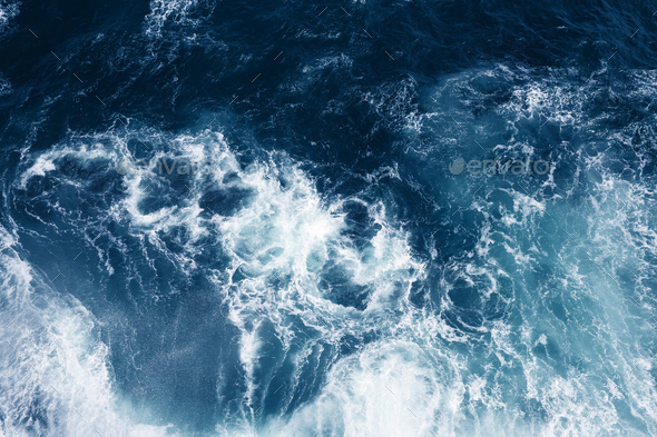 View from Above on Ocean Waves. - Stock Photo - Images