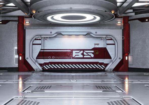 Spaceship interior - Stock Photo - Images