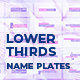 Lower Thirds | Name Plates - VideoHive Item for Sale