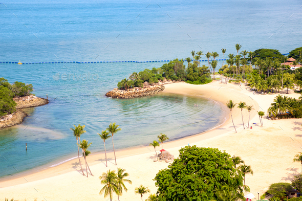 Sentosa tropical beach - Stock Photo - Images