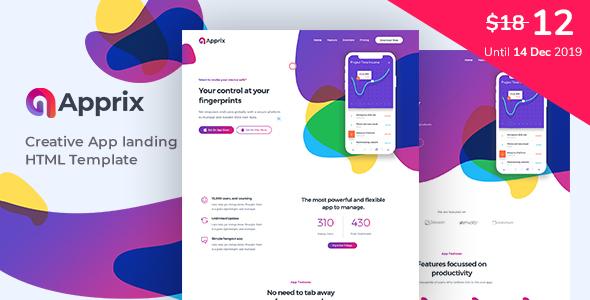 Apprix - App Landing Page