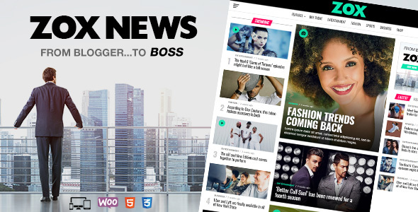 Zox News - Professional WordPress News & Magazine Theme