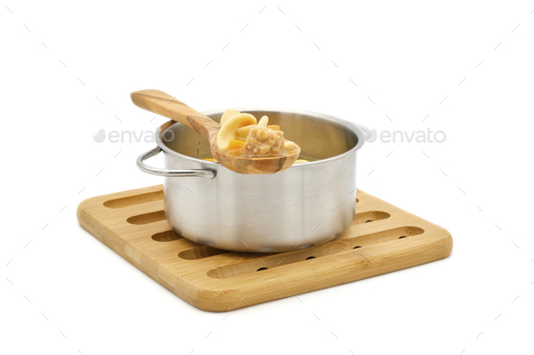 Pot Chicken Soup - Stock Photo - Images