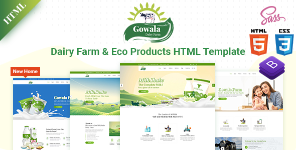 Special Gowala- Dairy Farm & Eco Products HTML Template