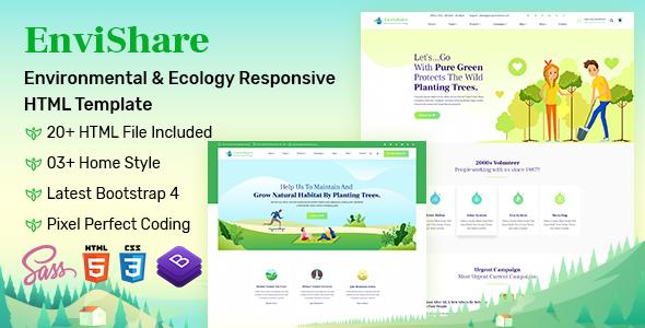 EnviShare- Environmental Ecology Responsive Template by LabArtisan
