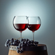 two glasses on red wine - PhotoDune Item for Sale