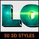50 3D Illustrator Styles Bundle vol. 01