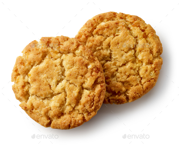 cookies on white background - Stock Photo - Images