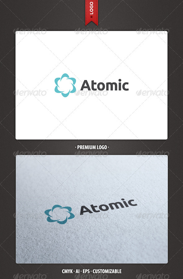 Atomic Logo Template - Abstract Logo Templates