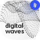 Digital Wave Particles Photoshop Brushes