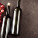 Bottles of wine with bunch of grapes - PhotoDune Item for Sale