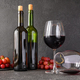 Red wine with bunch of grapes - PhotoDune Item for Sale