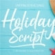 Holiday Script A Modern Script Calligraphy