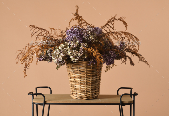 beautiful dried bouquet - Stock Photo - Images