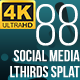 Social Media Lower Thirds Splat 4K (Video) - VideoHive Item for Sale