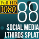 Social Media Lower Thirds Splat FullHD (Video) - VideoHive Item for Sale