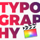 Typography Scenes FCPX - VideoHive Item for Sale