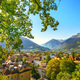 Merano or Meran view from Tappeiner promenade. Trentino Alto Adige Sud Tyrol, Italy. - PhotoDune Item for Sale