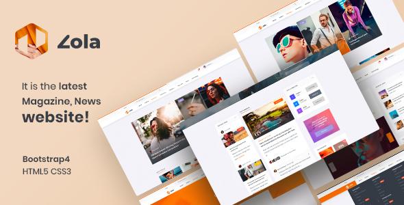 Zola | Magazine News HTML5 Template