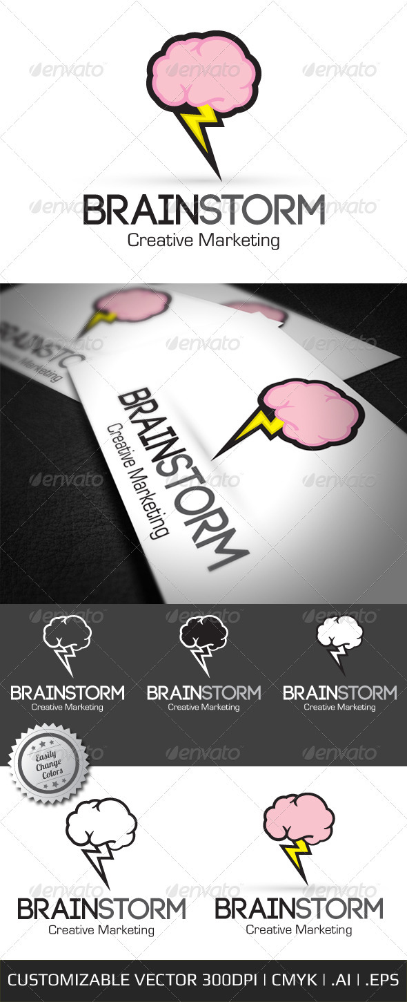 Brain Storm Creative Logo Template - Objects Logo Templates