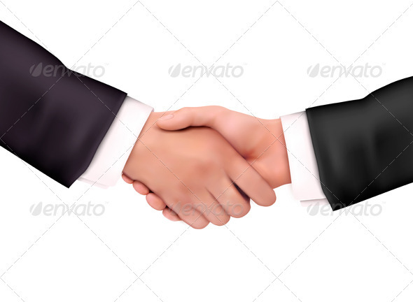 Business people handshake. Vector illustration  - People Characters