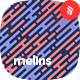 Melins - Melting Lines in Diagonal Rhythm Seamless Patterns