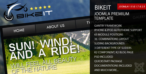 Free Download BikeIT - Premium Joomla Template Nulled Latest Version